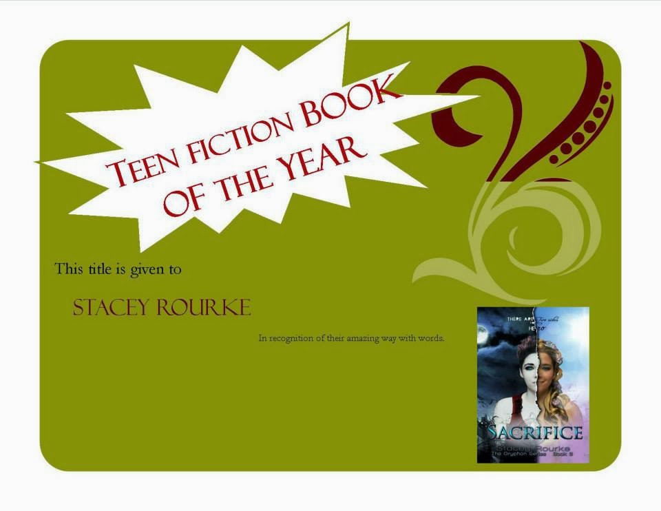 Turning Pages voted Best Teen Fiction for Sacrifice