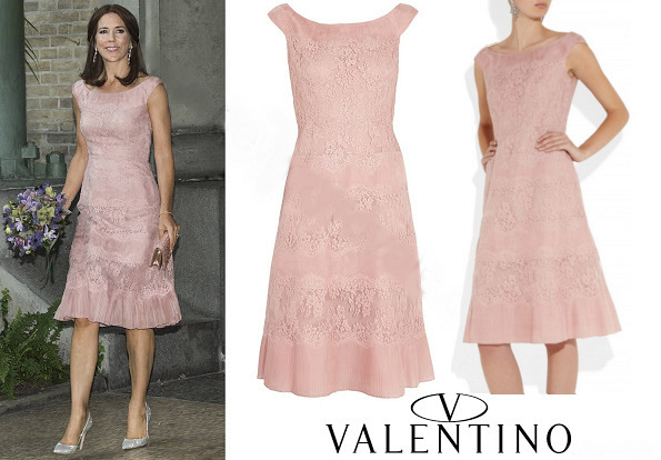 Crown Princess Mary In Valentino Lace Dress To Carlsberg Foundation Research Awards