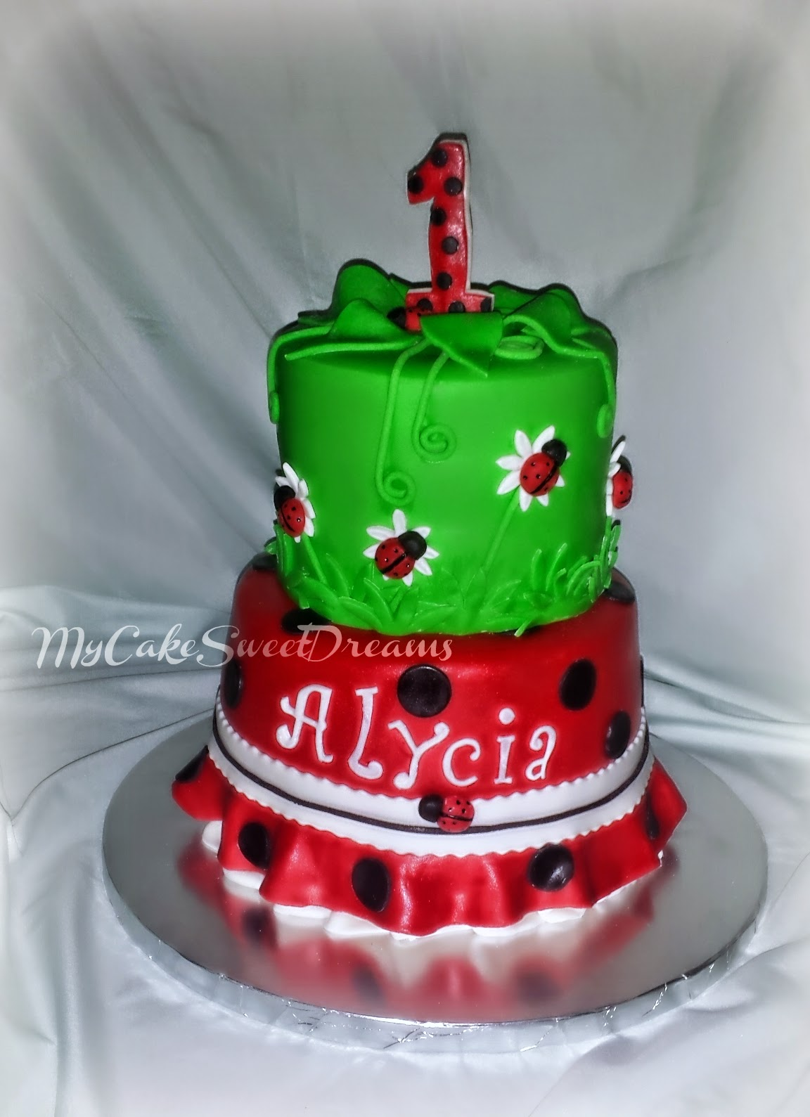 My Cake Sweet Dreams Ladybug 1st Birthday Cake