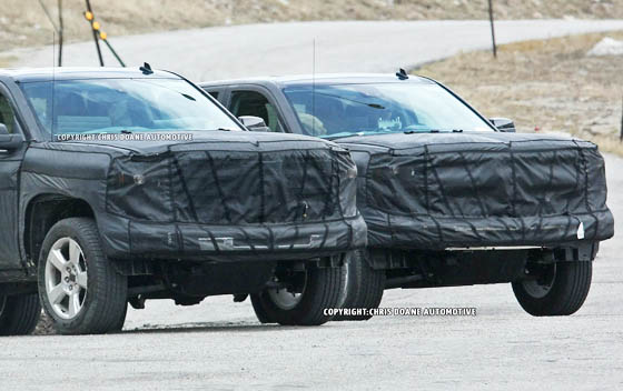2014 GMC Sierra Spy Photos, it shows the tip of his nose