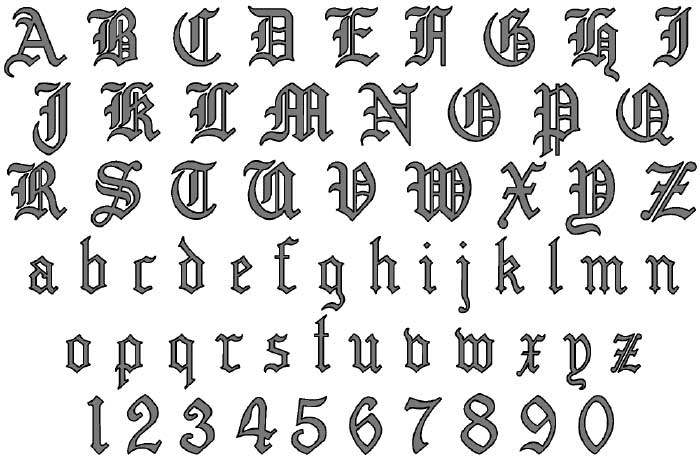 Pinkbizarre Old Tattoo Font