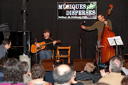 Stephen and Rich at Musiques Disperses Festival, LLeida, Spain