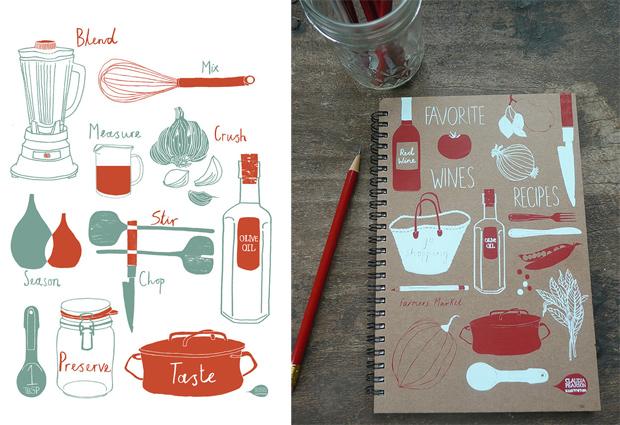 Claudia Pearson ilustraciones, temas cocina, dibujos, illustration, kitchen