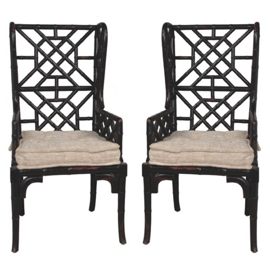 Bamboo Chair With Arms: Shell And Chinoiserie: Seaside Style With An Eastern Accent