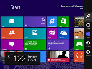 Windows 8 with righ menu