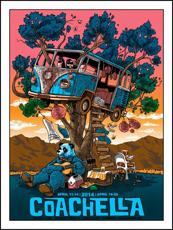 Inside The Rock Poster Frame Blog Tim Doyle Coachella Poster