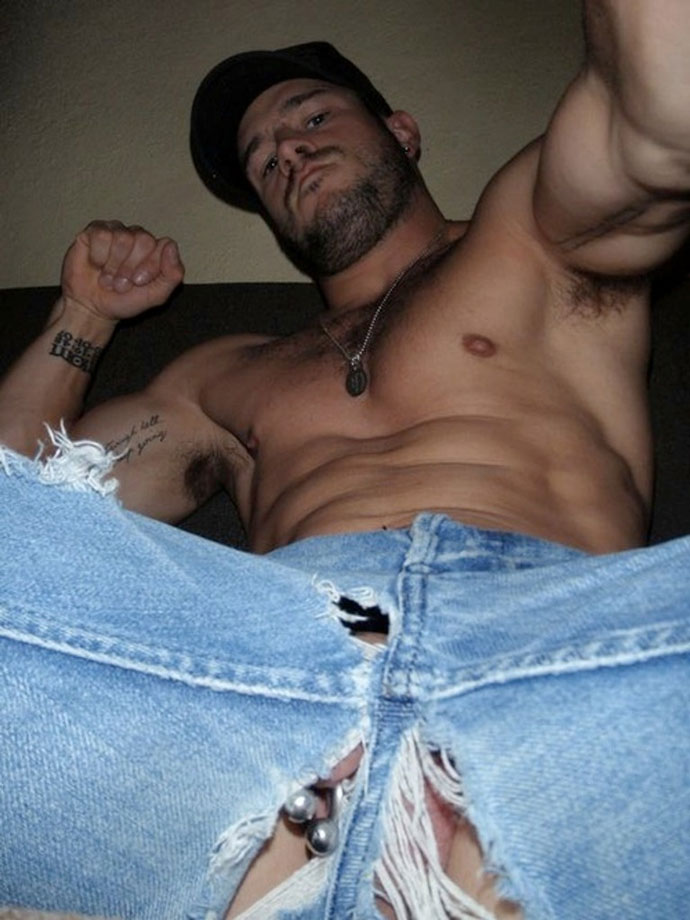 Gay men in ripped jeans porn