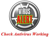 check antivirus , test working antivirus , working antivirus , virus alerts , virus in pc  , anti virus real or fake