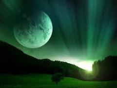 Luna despidiendo al sol