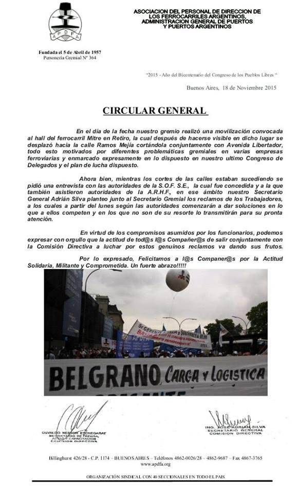 Buenos Aires, 18 de Noviembre 2015