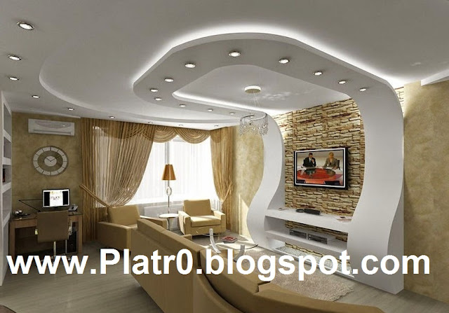 Ceiling faux plafond light led d coration platre maroc for Platre dicor 2015
