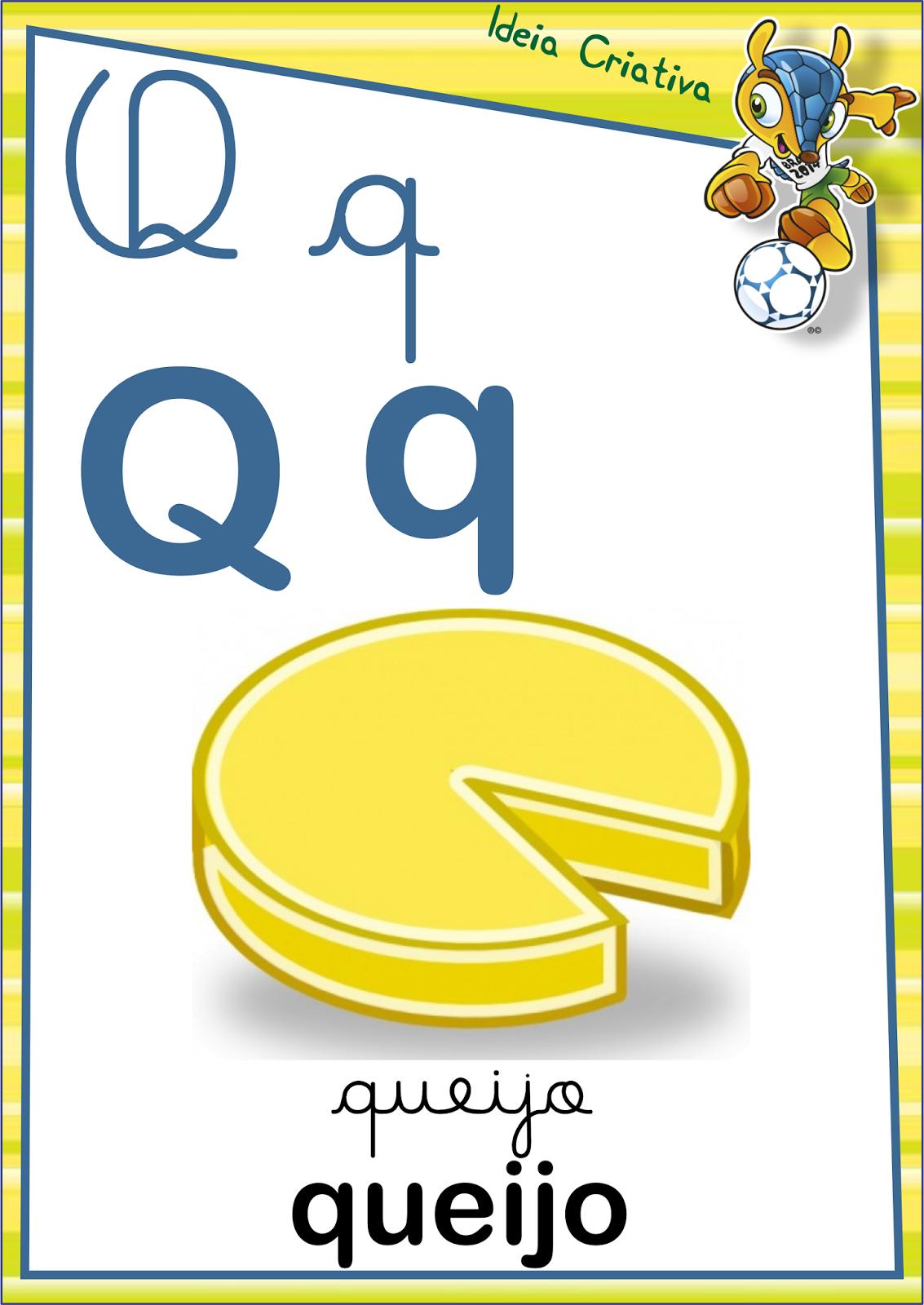 Alfabeto Letra Cursiva e Letra Bastão Copa do Mundo para Imprimir Grátis