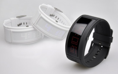 LED Watch Black Dice