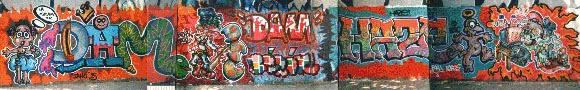 Graffitis Barcelona vieja escuela