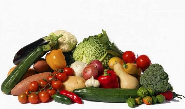 Frutas y verduras crudas