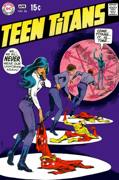 Teen Titans #16. Nick Cardy. A genuinely wonderful composition from DC's ...