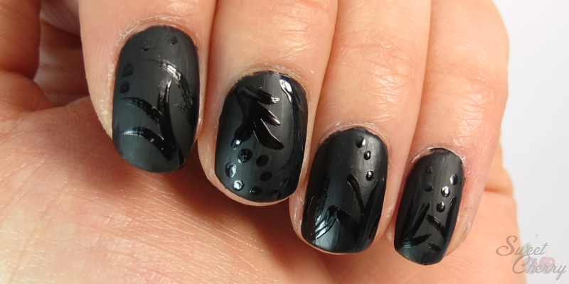 Nageldesign schwarz matt for Nageldesign matt