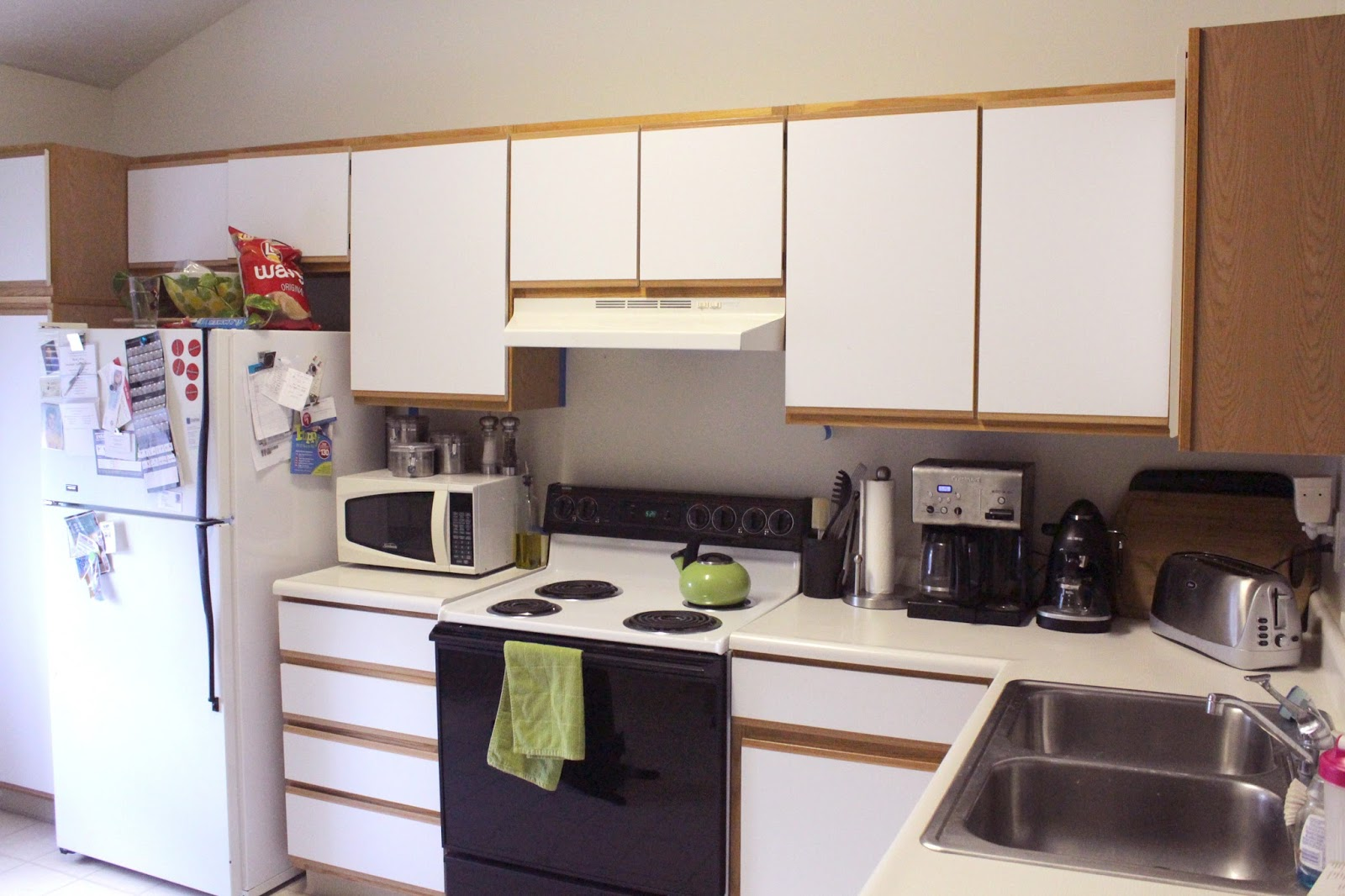 Crafted Love: Apartment Living | Sprucing Up Our Rental Kitchen