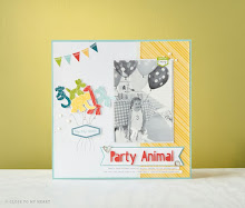 February Stamp of the Month Scrapbook Page