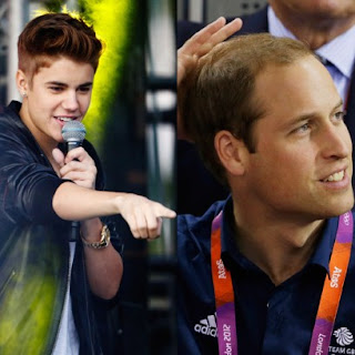 Justin Bieber disses Prince William's thinning hairline