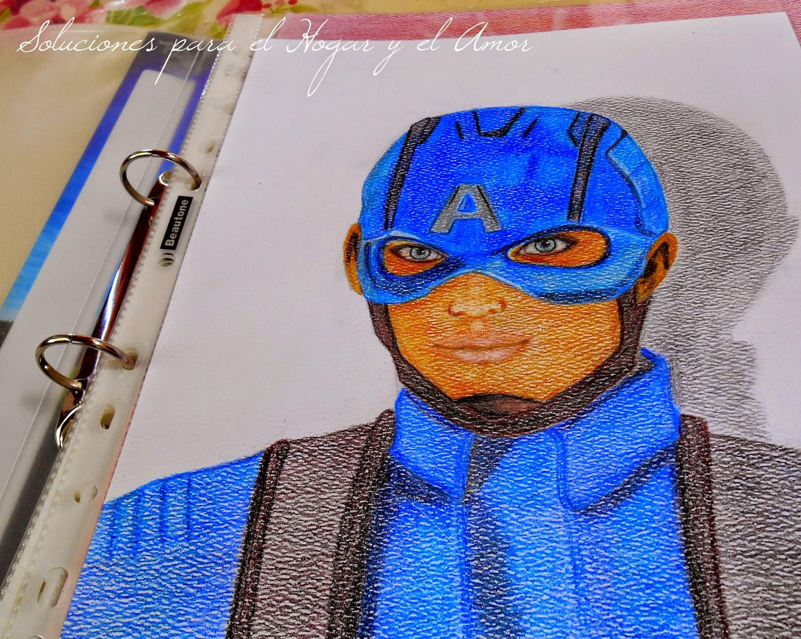 Mis Lápices y Dibujos, Capitan America, captain america
