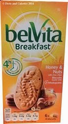 Belvita breakfast biscuit honey & nuts choc chip