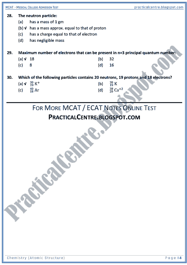 mcat-chemistry-atomic-structure-mcqs-for-medical-college-admission-test