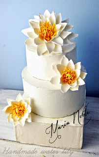 water lily wedding cake topper sugar flowers