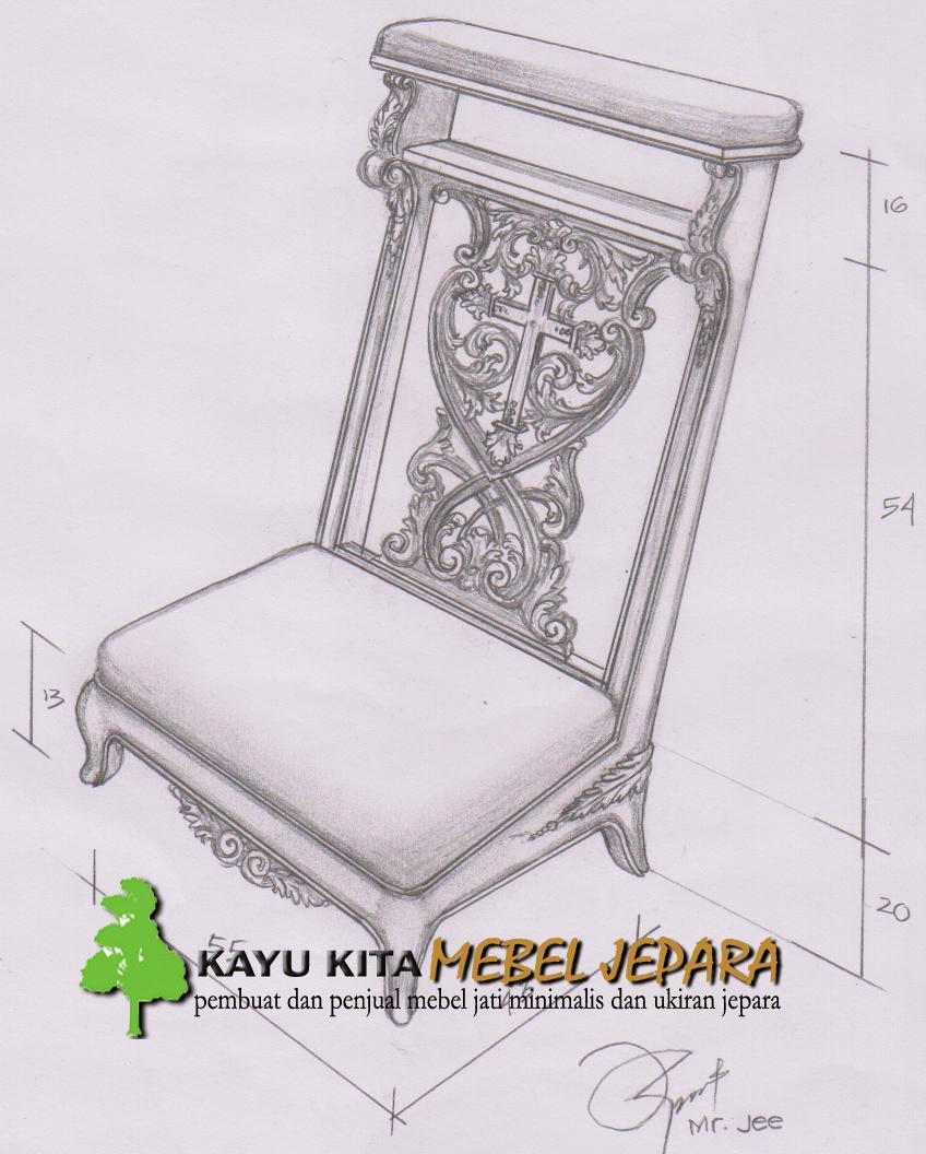 Desain Mebel Jepara Dengan Gambar Tangan