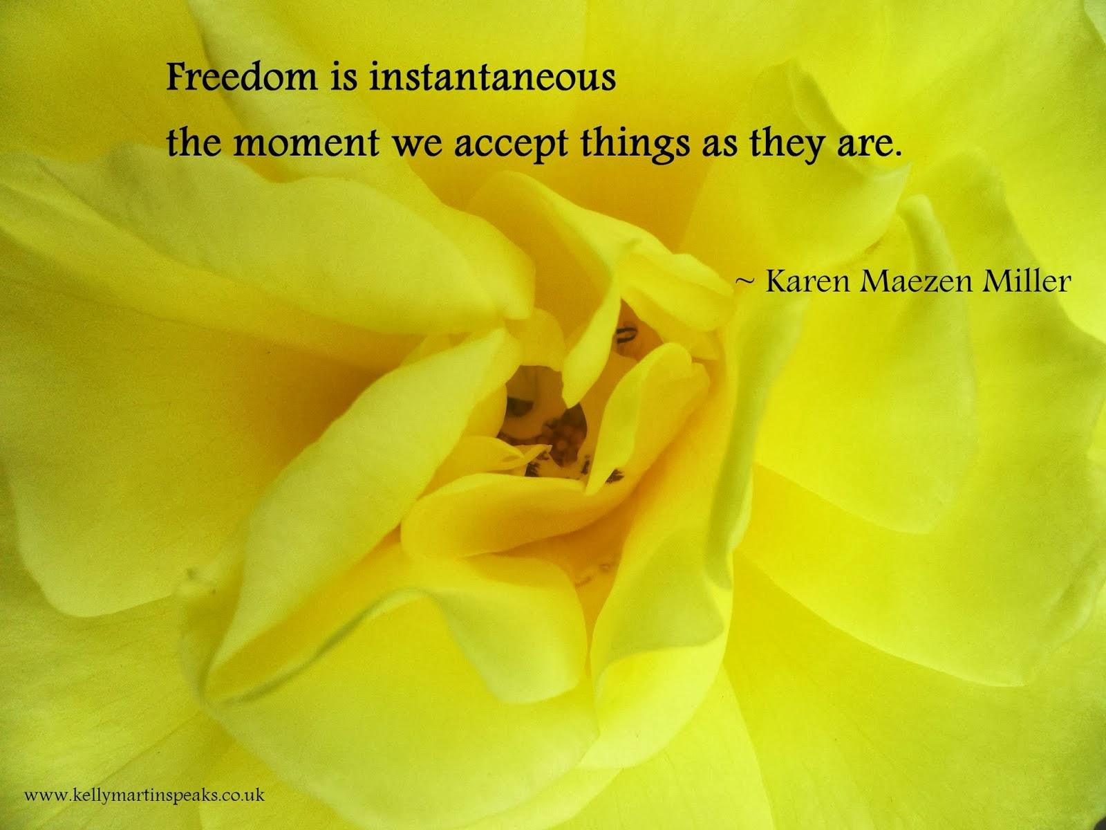 Freedom Quote by Karen Maezen Miller