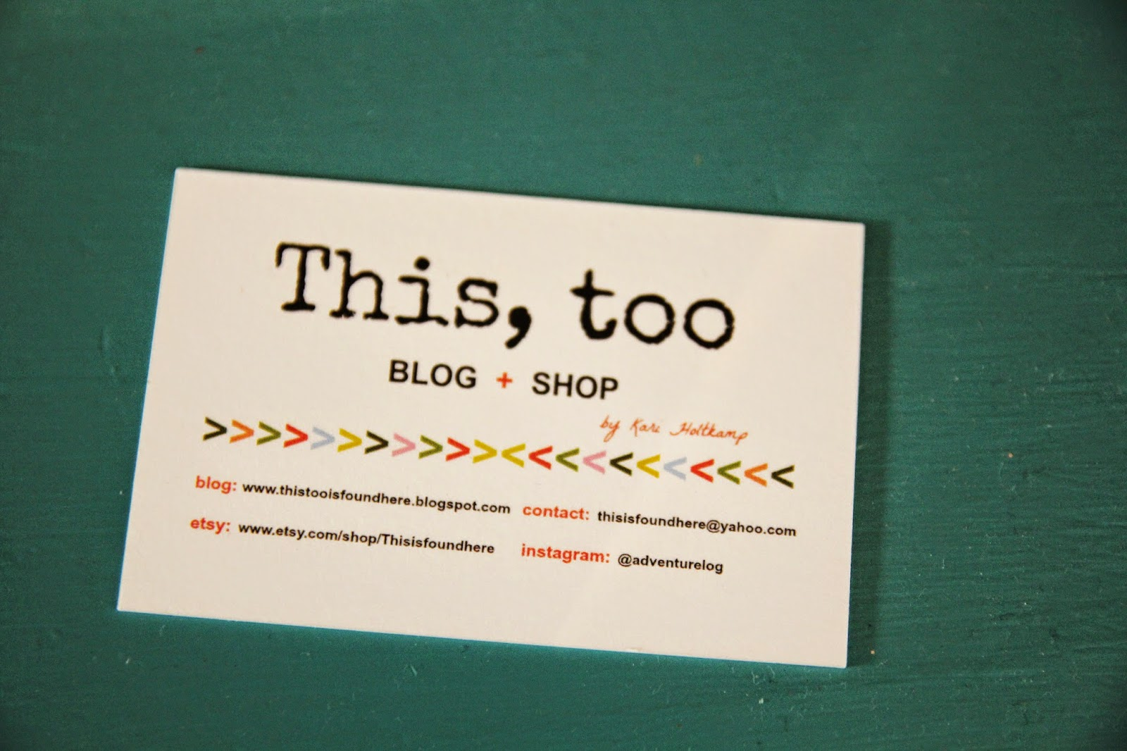 This, too: BLOGGER BUSINESS CARDS