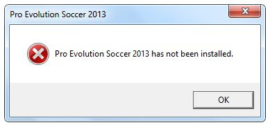 Mengatasi PES 2013 Has Not Been Installed