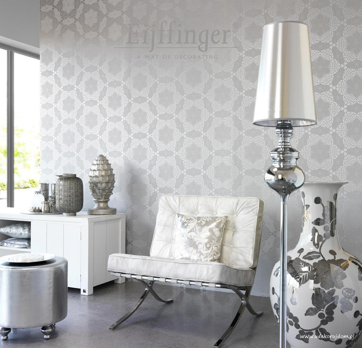 Udekoruj dom inspiracje aran acje koronka na tapecie cz 3 - Moderne woonkamer behang ...