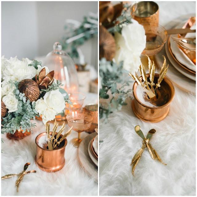 Mariage: mariage d'hiver en blanc et cuivre