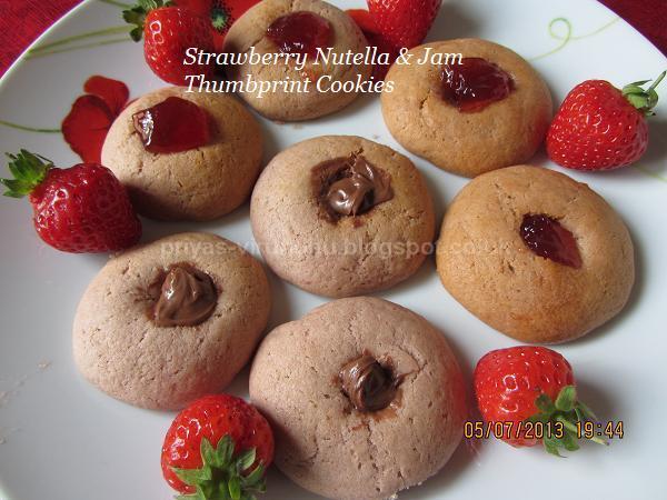 Priya's Virundhu....: Strawberry Nutella Thumbprint Cookies