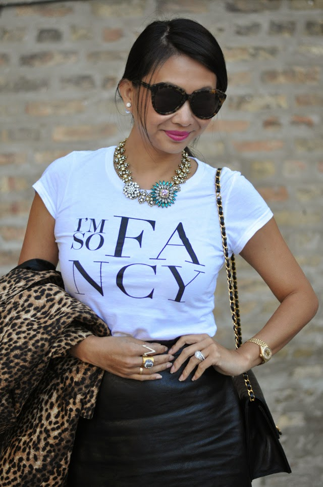 Statement Necklace, graphic tee,
