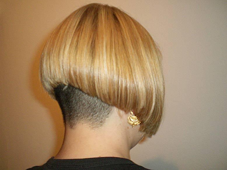 Shaved Nape Bob Haircut