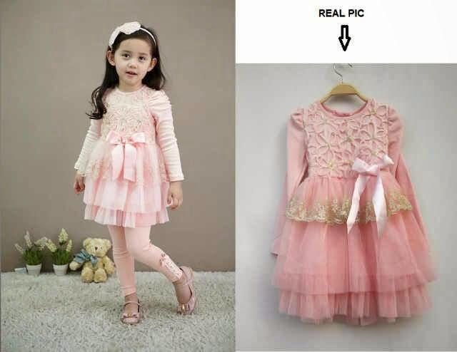 gaya model baju pesta anak perempuan modis