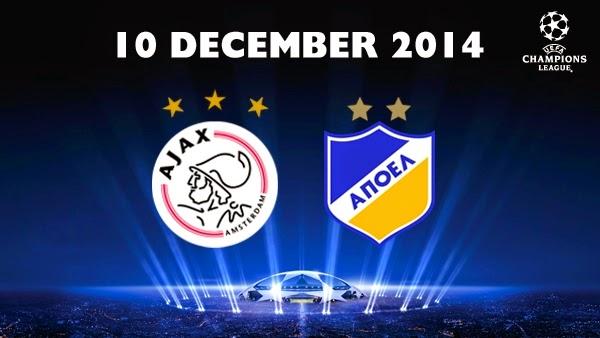 مشاهدة مباراة اياكس امستردام وابويل بث مباشر 10-12-2014 | Ajax Amsterdam vs Apoel Nicosia