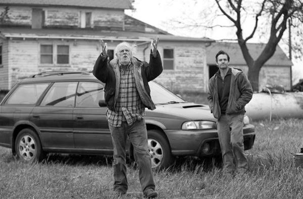 """Bruce Dern y Will Forte en """"Nebraska"""""""