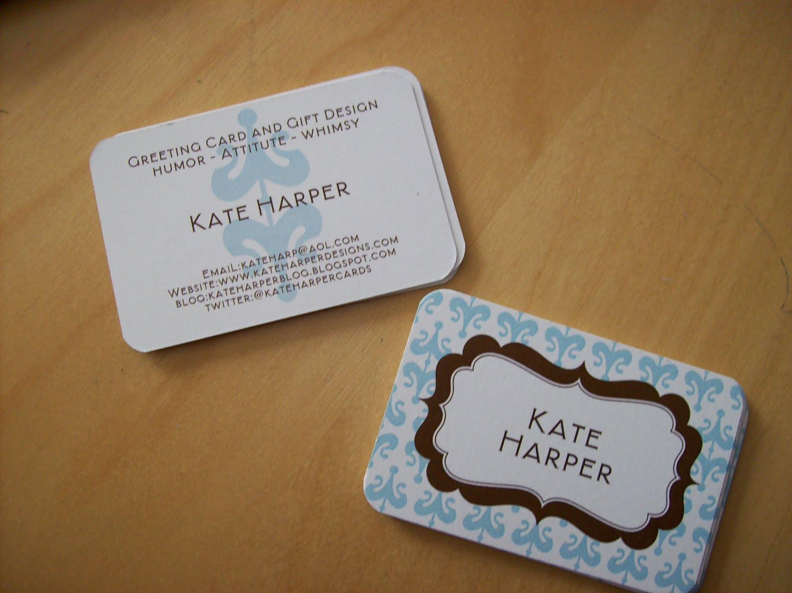 Kate Harper Blog: Calling Cards vs. Business Cards
