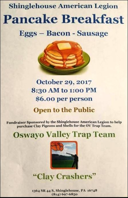 10-29 Pancake breakfast, Shinglehouse