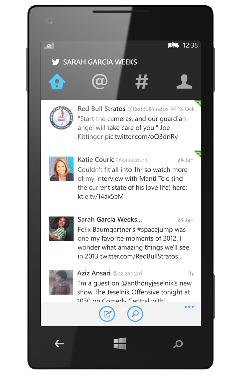 how to get twitter updates on your phone