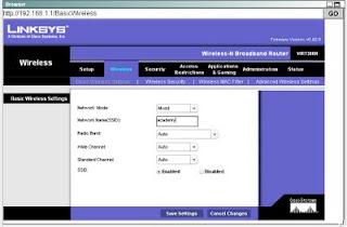 Cara Mengkonfigurasikan Wireless Linksys