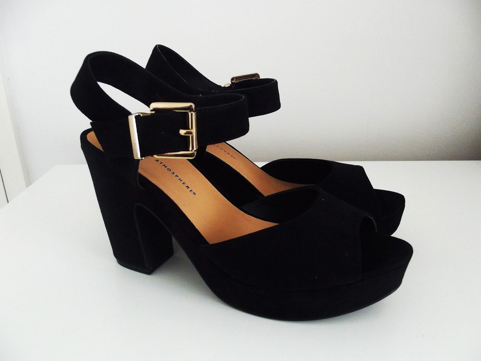 Black sandals primark - Chunky Heel Black Shoes