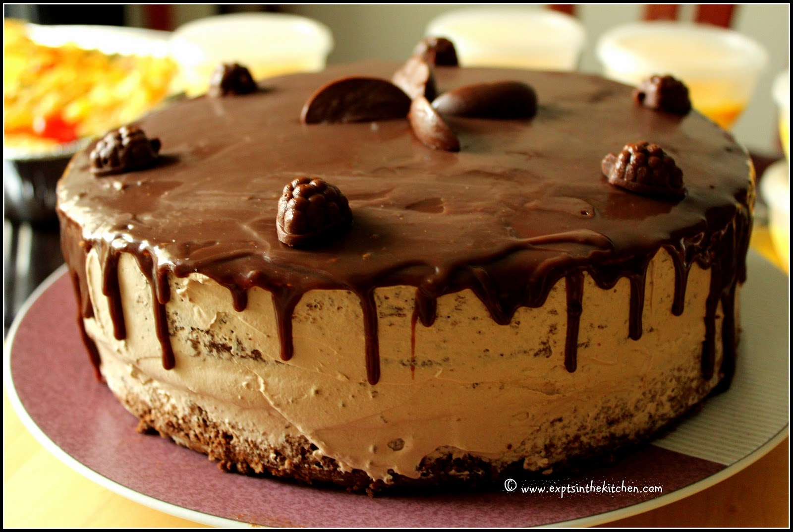 Chocolate Chiffon Cake With Whipped Cream Chocolate Chiffon Cake With