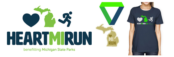 virtual racing, runchat, run Michigan, Pure Michigan, race swag