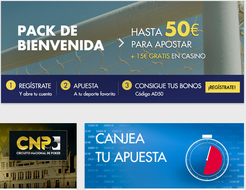 Código promocional de la sala de apuestas deportivas premier para España por valor de 50 euros de bono de bienvenida