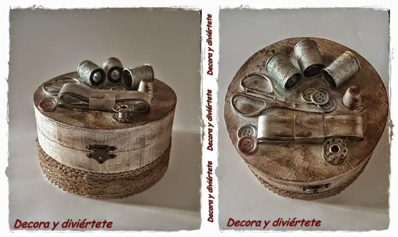 Como hacer una caja de costura o decorativa un diy paso - Como hacer una caja de madera paso a paso ...