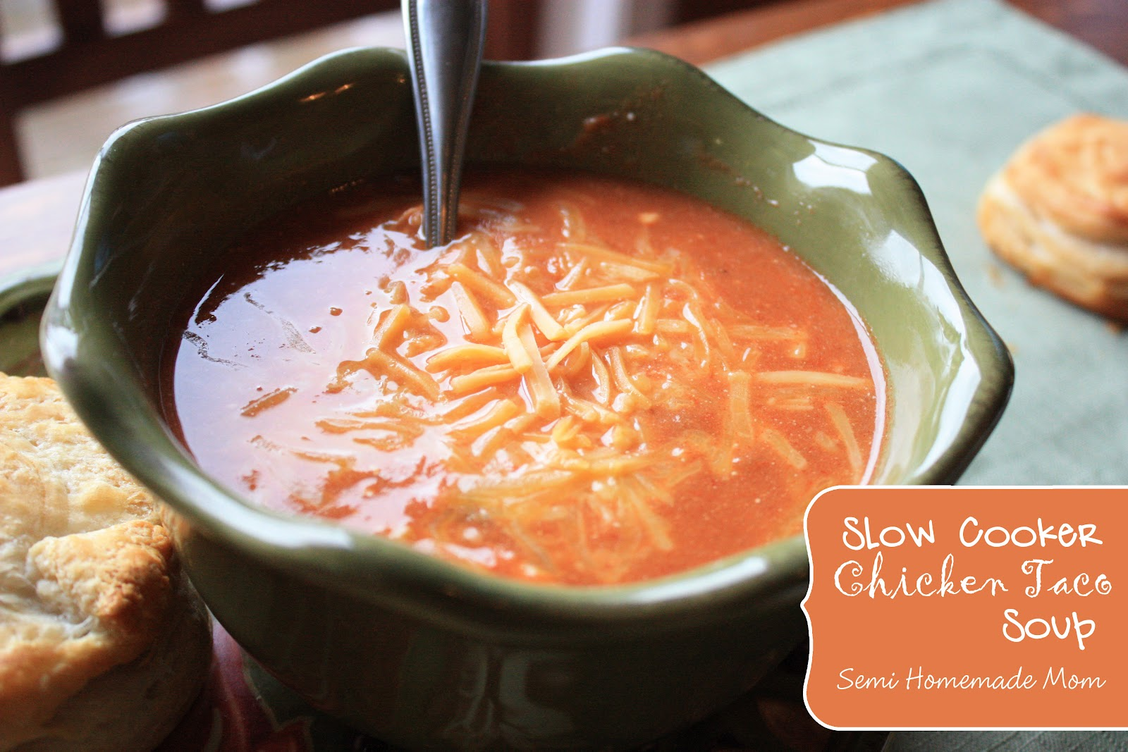 Crockpot Chicken Taco Soup | Mostly Homemade Mom